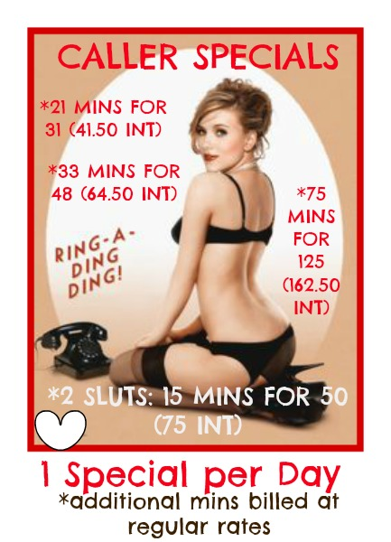 cheap phone sex caller specials